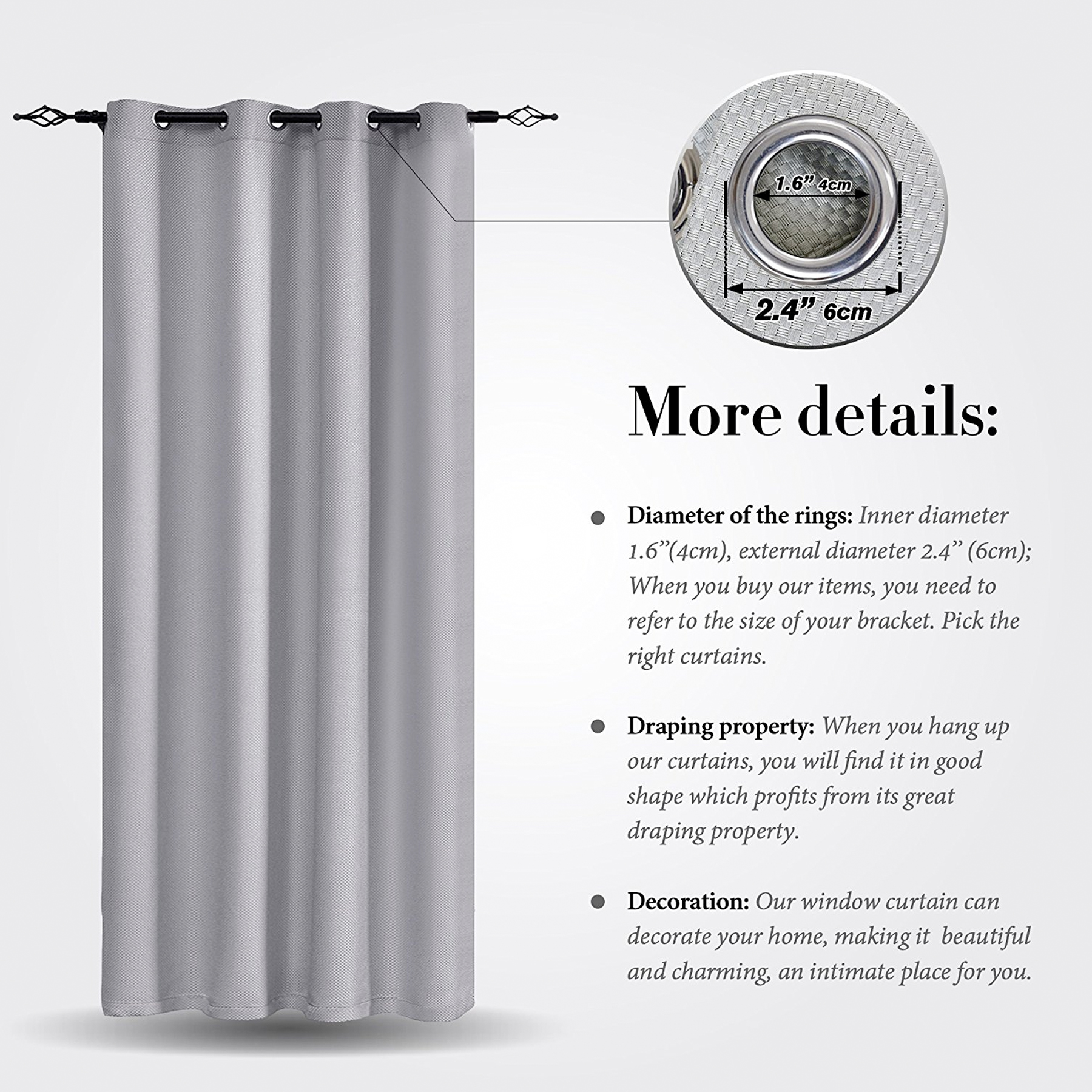 2 Panel Weave Thermal Insulated Blackout Curtain For Bedroom - How-to-select-the-right-window-curtains-for-our-home